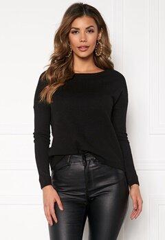 ONLY Brenda L/S Pullover Black Bubbleroom.fi