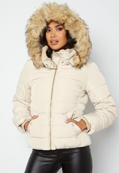 ONLY Camilla Quilted Jacket Oatmeal bubbleroom.fi