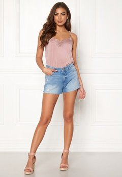 ONLY Cardi Denim Shorts Light Blue Denim Bubbleroom.fi