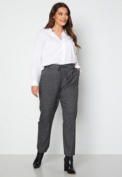 Only Carmakoma Goldtrash Soft Check Long Pant Black Checks bubbleroom.fi