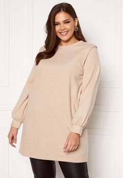 Only Carmakoma Louse LS Tunic Sweat Cement Bubbleroom.fi