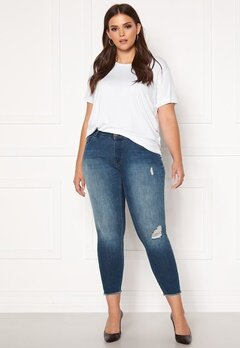 Only Carmakoma Willy Reg Skinny Ank Jeans MBD Medium Blue Denim Bubbleroom.fi