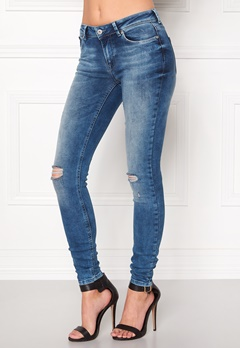 ONLY Carmen Reg Jeans Medium Blue Denim Bubbleroom.fi