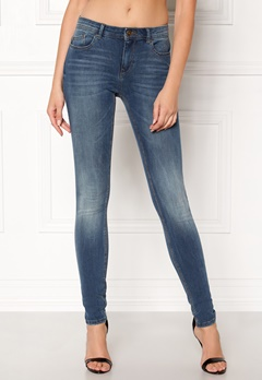 ONLY Carmen Reg Skinny Jeans Medium Blue Denim Bubbleroom.fi