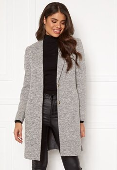 ONLY Carrie Mel Coat Light Grey Melange Bubbleroom.fi