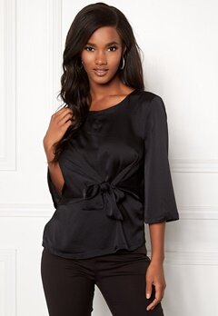 ONLY Casey 3/4 Tie Top Black Iris Bubbleroom.fi