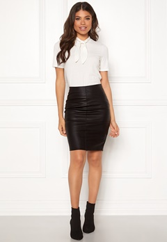 ONLY Celina Faux Leather Skirt Black Bubbleroom.fi