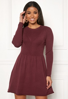 ONLY Chanette l/s Dress Tawny Port Bubbleroom.fi