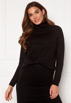 ONLY Cille L/S Rollneck Pullover Black Bubbleroom.fi