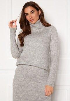 ONLY Cille L/S Rollneck Pullover Ligth Grey Melange Bubbleroom.fi
