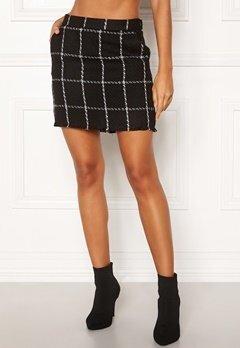 ONLY Dare Check Mini Skirt Black/Check Bubbleroom.fi
