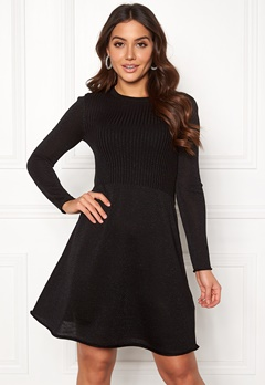 ONLY Darling L/S Dress Black Bubbleroom.fi
