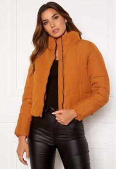 ONLY Dolly Short Puffer Jacket Pumpkin Spice Bubbleroom.fi