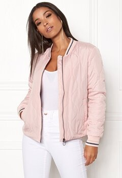 ONLY Dorah Quilted Bomber Jkt Rose Smoke Bubbleroom.fi