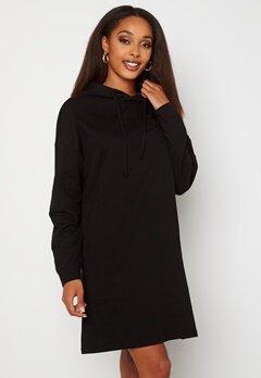 ONLY Dreamer Life Sweat Hood Dress Black Bubbleroom.fi