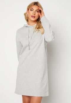 ONLY Dreamer Life Sweat Hood Dress Ligth Grey Melange Bubbleroom.fi