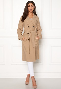 ONLY Emilia Long Trenchcoat Incense Bubbleroom.fi