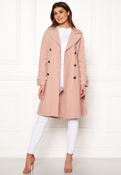 ONLY Emilia Long Trenchcoat Rose Smoke Bubbleroom.fi