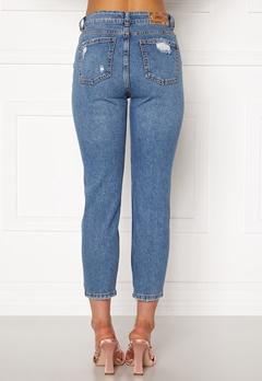 ONLY Emily HW  Crop Jeans Medium Blue Denim Bubbleroom.fi