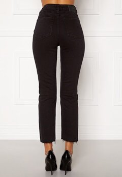 ONLY Emily HW Raw Ank Jeans Black Denim Bubbleroom.fi