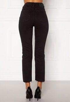 ONLY Emily HW Raw Ank Jeans Black Denim Bubbleroom.fi