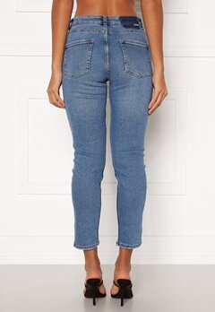 ONLY Erica Life Mid ST Ankle Jeans Light Blue Denim bubbleroom.fi