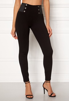 ONLY Evie Mid Button Legging Black Bubbleroom.fi
