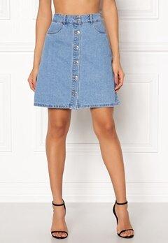 ONLY Farrah Reg Denim Skirt Light Blue Denim Bubbleroom.fi
