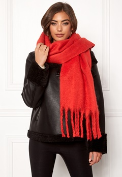 ONLY Floor Weaved Scarf Goji Berry Bubbleroom.fi