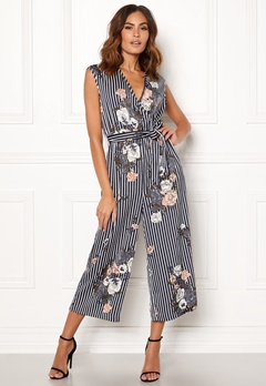 ONLY Gaby S/L Jumpsuit Night Sky / Floral Bubbleroom.fi