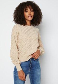 ONLY Gilja L/S Pullover Knit Pumice Stone bubbleroom.fi