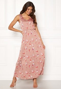 ONLY Giza S/L Maxi Dress Adobe Rose Bubbleroom.fi