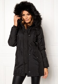 ONLY Iris Parka Black/Black Bubbleroom.fi