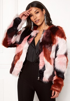 ONLY Jasmine Faux Fur Jacket Picante Bubbleroom.fi