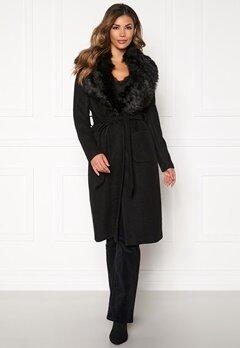 ONLY Jolie Long Wool Coat Black Bubbleroom.fi
