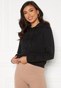 ONLY Joy L/S Hood Sweater Black bubbleroom.fi