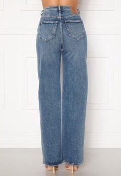 ONLY Juicy HW MB Wide Leg Jeans Medium Blue Denim Bubbleroom.fi