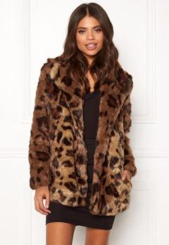 ONLY Juliane Faux Fur Leo Coat Tigers Eye Bubbleroom.fi