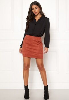 ONLY Julie Fauxsuede Skirt Ketchup Bubbleroom.fi
