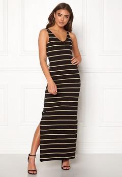 ONLY July S/L Long Dress Black/Stripes Bubbleroom.fi