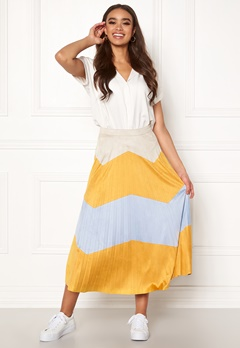 ONLY June Faux Suede Maxi Skirt Golden Yellow Bubbleroom.fi