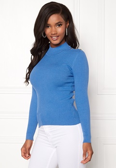 ONLY Kamille Button Pullover Marina Bubbleroom.fi