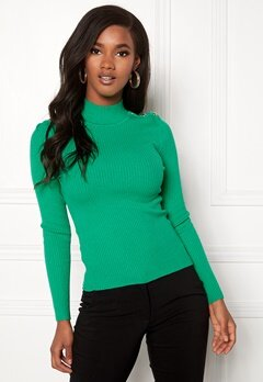 ONLY Kamille Button Pullover Simply Green Bubbleroom.fi