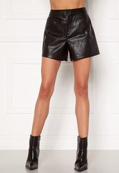 ONLY Kara Faux Leather Shorts Black Bubbleroom.fi