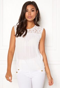 ONLY Karmen S/L Top Cloud Dancer Bubbleroom.fi
