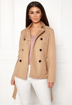 ONLY Laura Short Trenchcoat Incense Bubbleroom.fi