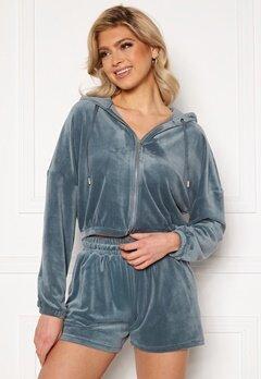 ONLY Laya L/S Zip Hood Blue Mirage<br>  Bubbleroom.fi