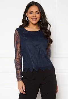 ONLY Lillie Lace Top Night Sky Bubbleroom.fi