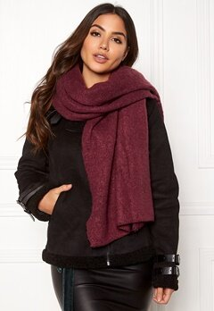ONLY Lima Knit Long Scarf Chocolate Truffle Bubbleroom.fi