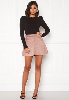 ONLY Linea Faux Suede Bonded Skirt Burlwood Bubbleroom.fi